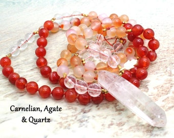 Mala Prayer Beads   KARMA   Mala Tassel Necklace   Mala Beads Necklace   Mala Beads   Yoga Jewelry   Chakra Mala   108 Bead Mala   Sacral