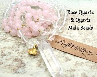Mala Prayer Beads   HEART CHAKRA   Mala Tassel Necklace   Mala Beads Necklace   Mala Beads   Yoga Jewelry   Chakra Mala   108 Bead Mala  