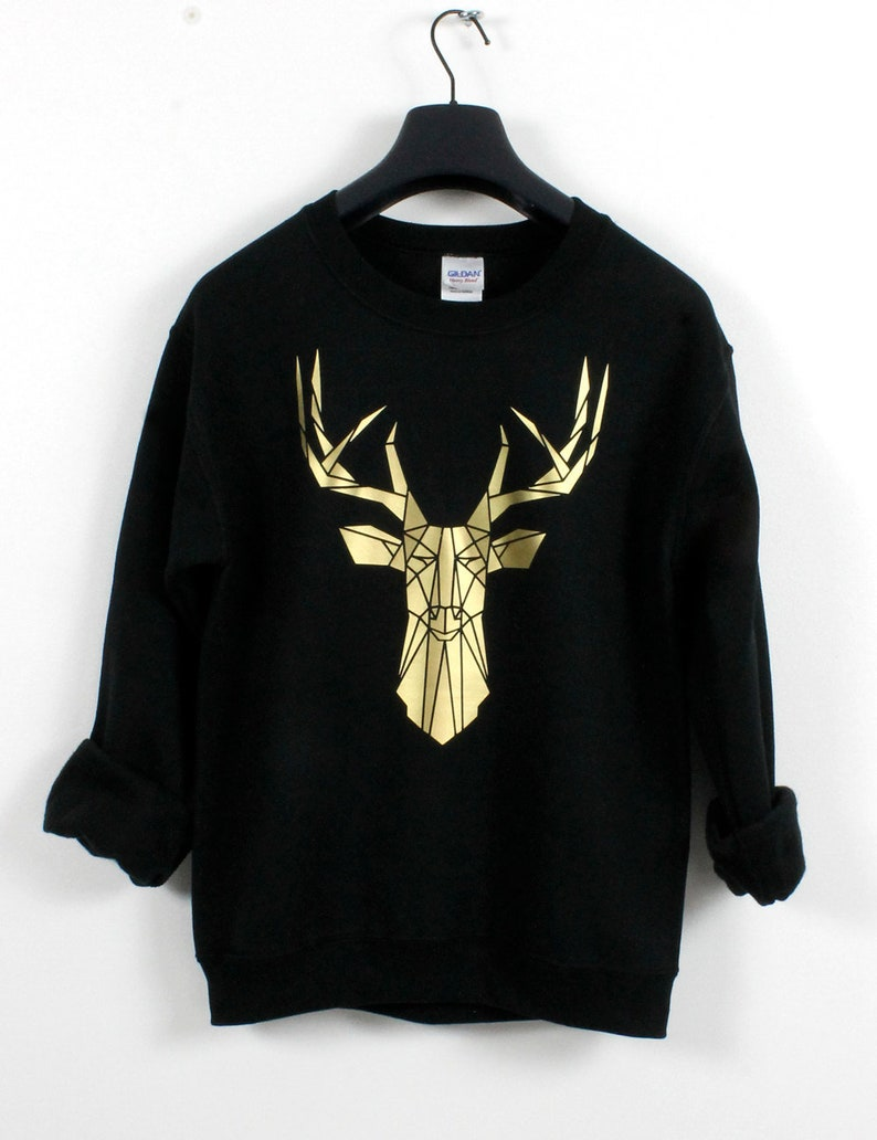 Elk Head Kids Pullover Sweater Funny Crew Neck Knitted Sweater for 2-6T