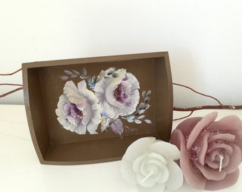Small Decorative Tray For Bathroom, Trays For Decor, Trays For Coffee  Tables, Coffee Brown Tray, Trays Vintage, Trays For Table, Trays Wood