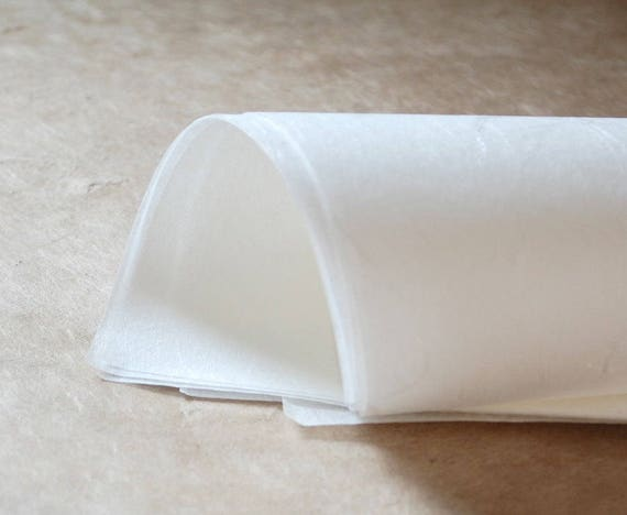 12 x 18 inches white semi translucent paper Half sheets Unryushi HS Japanese superfine tissue soft /& smooth with visible fibres 30gsm