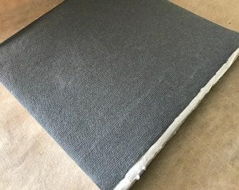 Square Blank Book Blocks, Khadi sketchbooks, Fat books medium surface 100 gsm Cotton Rag Paper deckle edge inserts, Book-making supplies