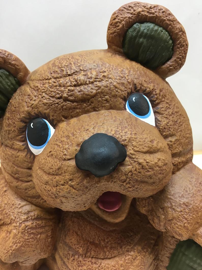 Handpainted ceramic cute cuddly bear