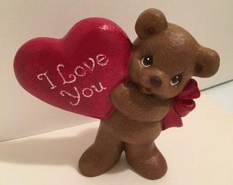 Handmade Ceramic I love you bear