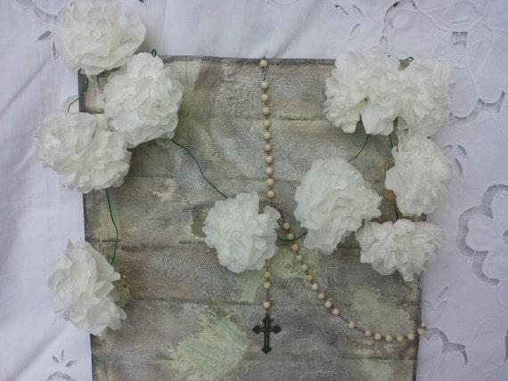 Tissue paper flower garlandbaby shower paper wedding etsy image 0 mightylinksfo