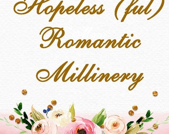 Romantic Vintage Millinery Section Marker