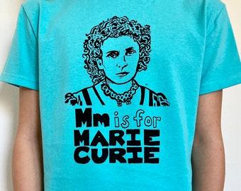 Feminist Kids Shirt: Marie Curie Gift Set