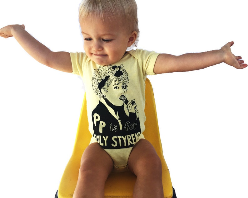 Feminist Onesie  P is for Poly Styrene w/ 9X12 Screen image 0