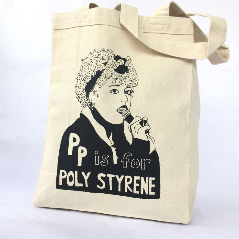 Feminist Tote Bag Poly Styrene  X Ray Spex  Punk Screen image 0