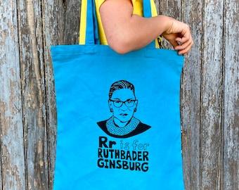 RBG Tote Bag, Notorious RBG, Ruth Bader Ginsburg Tote