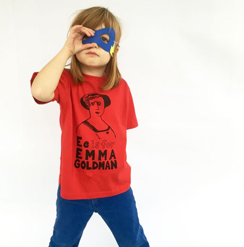 Feminist Kids Shirt  Emma Goldman T-Shirt & Screenprint // image 0