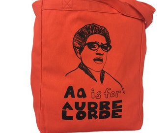 Feminist Tote Bag: Audre Lorde Tote Bag, Feminist Alphabet Series
