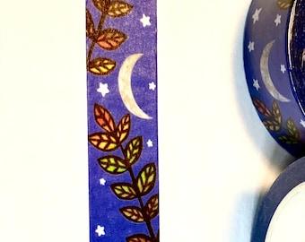 Moon Flower Washi Tape - ORIGINAL design - pretty washi tape