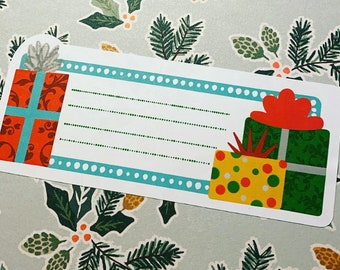 Christmas Presents Address Labels SELF ADHESIVE - Gift Labels - Christmas Address Labels - Gift Tags