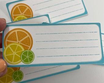 Citrus Address Labels - Peel and Stick Mail Label- Lemon, Orange, Lime Envelope Labels