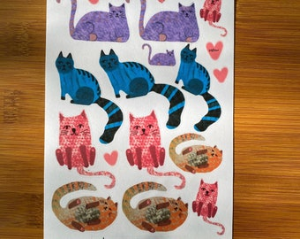 Cute Cat Stickers -Planner Stickers -  Happy mail stickers - teacher stickers