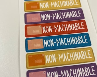 Bright Colors - Non-Machinable Labels for Packages and Envelopes - Nonmachinable Stickers