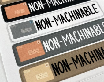 Neutral Colors - Non-Machinable Labels for Packages and Envelopes - Nonmachinable Stickers