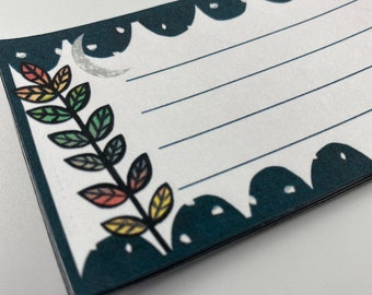 Moon Flower Labels- Address Labels - Note Stickers- Pen Pal Address Labels - Pretty - Cute - Quirky - Celestial - Space - Floral