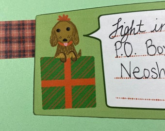 Puppy Present Address Labels SELF ADHESIVE - Dog Labels - Christmas Address Labels - Gift Tags