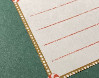Peppermint and Gingerbread Address Labels SELF ADHESIVE - Holiday Labels - Christmas Address Labels - Gift Tags