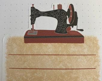 Sewing Machine Address Labels - Set of 5 Antique Sewing Machine Labels - Sewing Machine Address Labels