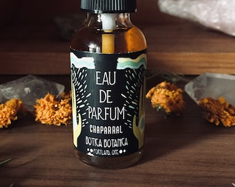 Chaparral >> Chaparral. Sagebrush. Juniper. Sunbaked earth. >> Eau de Parfum Spray 1 oz >> Botanical Fragrance