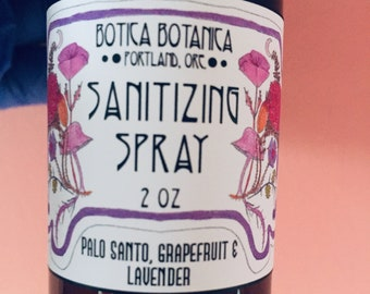 Sanitizing Spray >> Palo Santo, Grapefruit & Lavender >> 2 oz