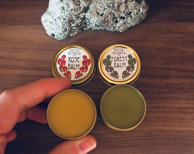 Featured listing image: Rose Balm >> All-purpose balm infused with botanicals >> .5 oz