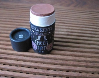 Hazy Rose -- .5 oz -- Natural Lip & Cheek Tint -- Long-lasting, buildable pigment that is good for your skin!