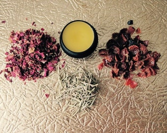Rose Balm >> All-purpose balm infused with botanicals >> .25 oz