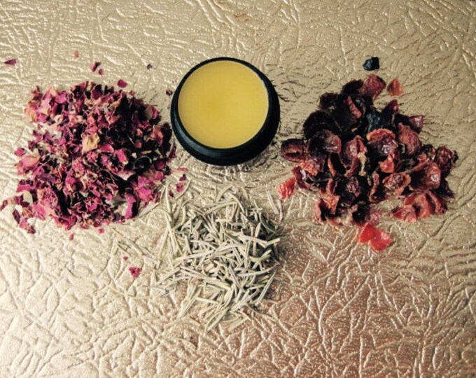 Featured listing image: Rose Balm >> All-purpose balm infused with botanicals >> .25 oz