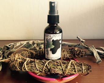 Palo Santo and White Sage Smudge -- Room & Linen Spray  -- 2 oz