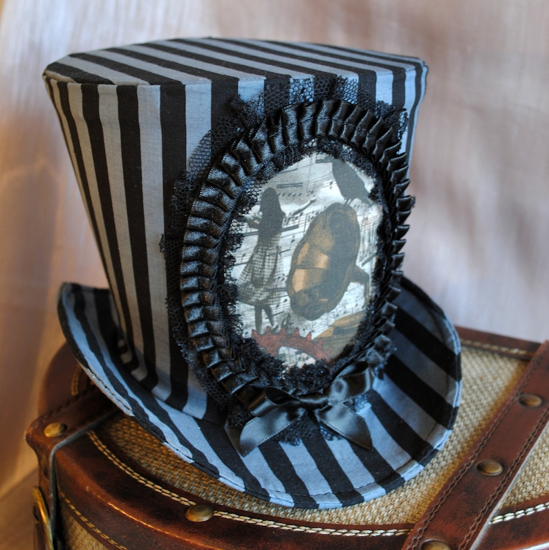 ecd669729b31 Steampunk Circus Top HatStriped Top Hat for WOMENAlice in | Etsy