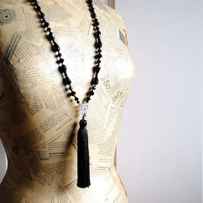 Black Faceted And Black Glass And Silver Bead Necklace New Varieties Are Introduced One After Another Jewelry Sets