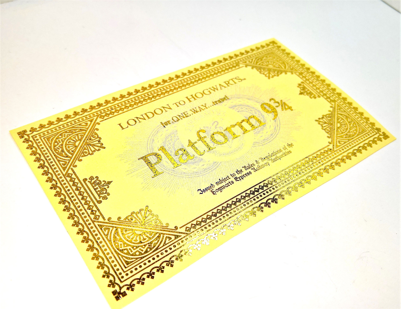 Harry Potter Inspired Hogwarts Express Ticket