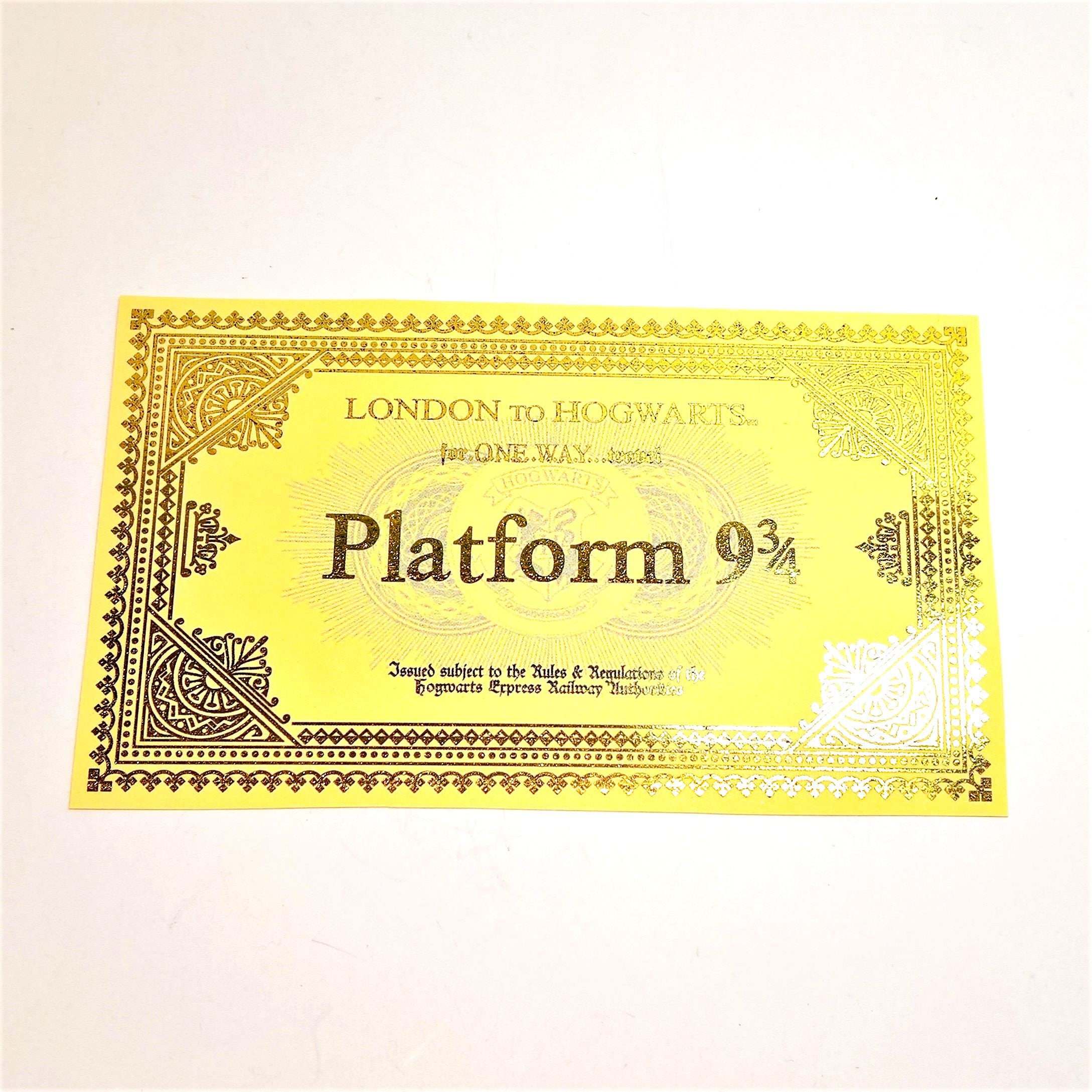 Hogwarts Express Golden Ticket 5 Invitations For Harry Potter