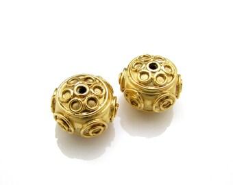 1 Pc, 8mm, 24K Gold Vermeil Beads