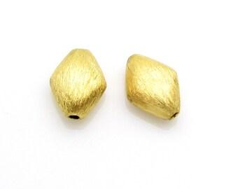 2 Pcs, 8.9mm, 24 K Gold Vermeil Beads