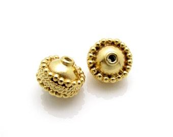 1 Pc, 9mm, 24K Gold Vermeil Beads