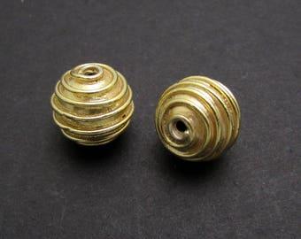 1 Pc, 8.35mm, 24K Gold Vermeil Beads