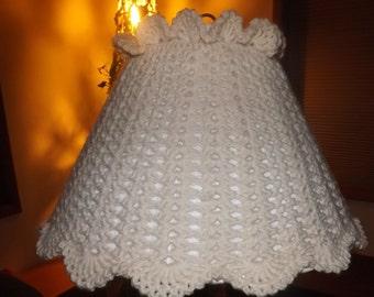 Crochet Lamp Shade Cover