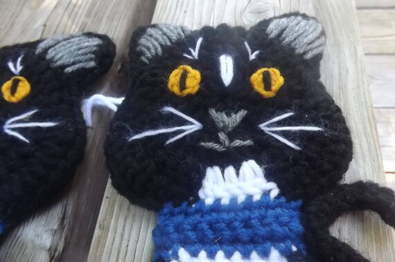 Crochet Cat Potholder Pattern | Cat bag pattern, Crochet cat, Cat bag | 379x570
