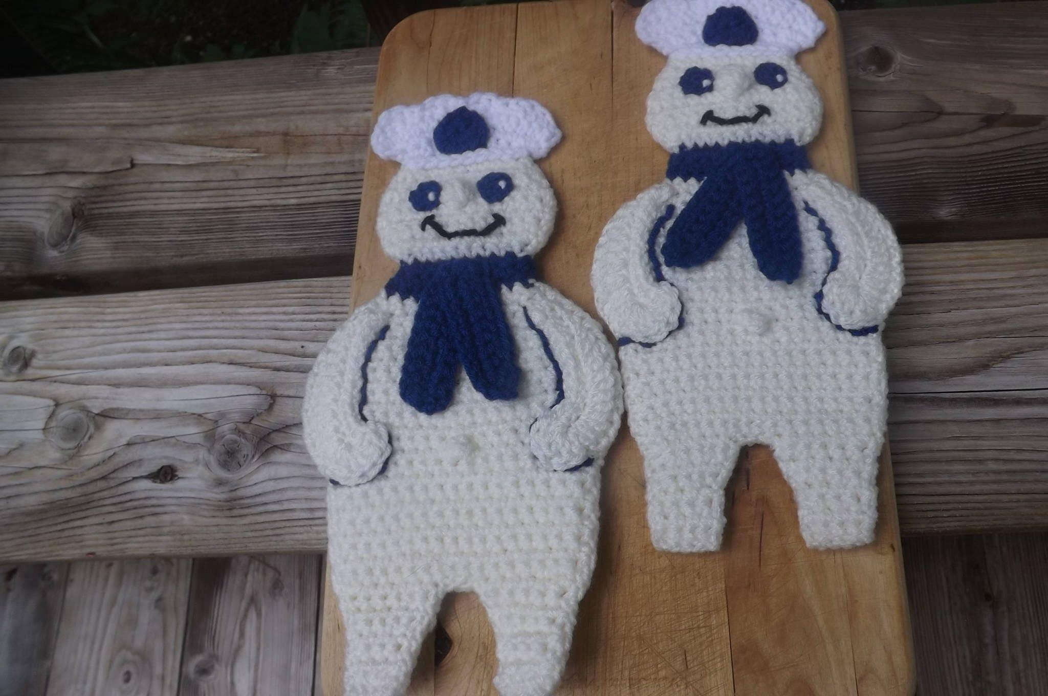 Pattern Onlydiy Crochet Pillsbury Dough Boy Potholdershot Etsy