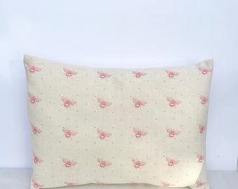 Peony & Sage Cushion Cover in PINK BEE  Eva Stripe