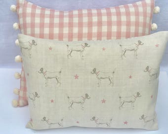 Cushion Cover in Peony & Sage Jack All Stars in Pink