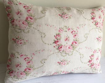 Large Cushion COVER  in Peony & Sage MATHILDE linen fabric  50 x 35