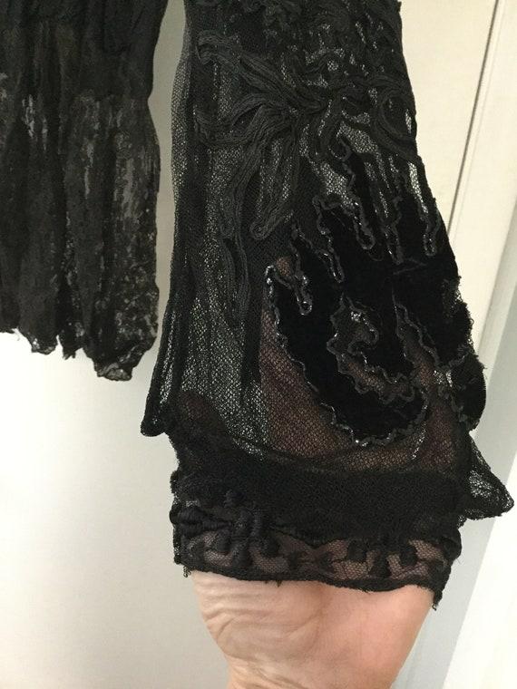 ANTIQUE VICTORIAN lace blouse 1800's - image 5