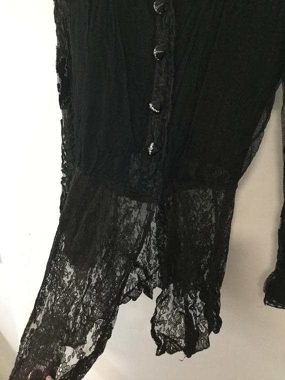 ANTIQUE VICTORIAN lace blouse 1800's - image 6