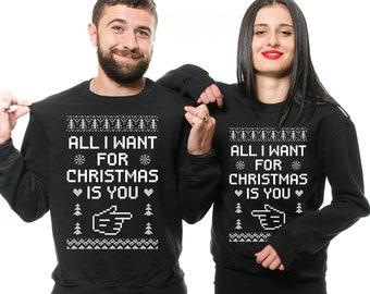 Ugly Christmas Sweater Couple Etsy